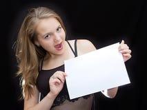 Blatt Papier Stockbild