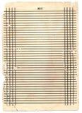 Blatt Papier in einer Zeile Lizenzfreies Stockbild