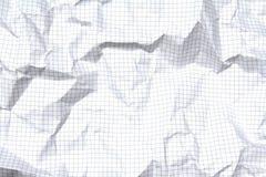 Blatt Papier Karopapier Lizenzfreies Stockbild