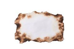 Blatt Papier mit den gebrannten Rändern lizenzfreie stockfotos