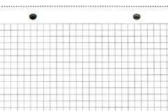 Blatt von einem Notizbuch Lizenzfreie Stockfotografie