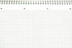 Blatt von einem Notizbuch Stockfotos