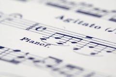 Blatt von Musik Lizenzfreie Stockbilder