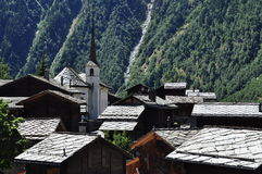 Blatten: Swiss alpine village. Naters Valais, Switzerland. Stock Photo