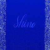 Blatthintergrund der abstrakten Kunst Funkeln zerstreut auf blaues Papier dekoratives Papier der Kalligraphieart lizenzfreies stockbild