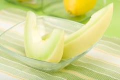 Blatthonig-Melone-Keile Lizenzfreie Stockbilder