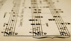Blattmusik Stockbild