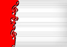 Blattmusikdarstellung Lizenzfreie Stockbilder