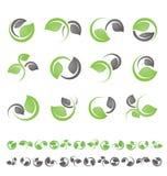 Blattsymbole, Ikonen und Zeichensammlung vektor abbildung