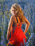 Blauäugige Blondine Lizenzfreies Stockfoto
