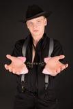 Blauäugiger Gangster gesprengt stockbilder