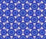 Blau auf weißer nahtloser Arabeske stock abbildung