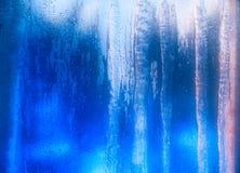 Blau bereiftes Fenster Lizenzfreies Stockbild