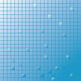 Blau betitelt Mosaik Lizenzfreie Abbildung