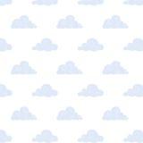 Blau bewölkt Hintergrund Lizenzfreie Stockfotos