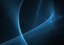 Blau bewegt auf Schwarzes wellenartig Stockfoto