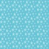 Blau blüht nahtloses Muster Lizenzfreies Stockfoto