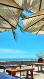 Blau, bluesky, Meer, Strand, seaview Lizenzfreie Stockfotos