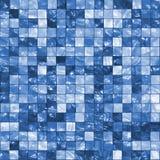 Blau deckt Hintergrund mit Ziegeln Stockfotografie
