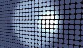 Blau deckt Rasterfeld mit Ziegeln Lizenzfreie Stockbilder