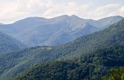 Blau der bulgarischen Berge Stockfotos