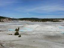 Blau in der Wüste Stockbild