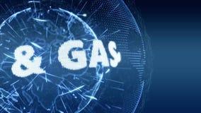 Blau der Weltnachrichten-Öl-und Gas-Intro-harten Nuss vektor abbildung