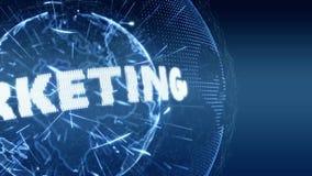 Blau der Weltnachrichten-Marketing-Internet-Intro-harten Nuss vektor abbildung
