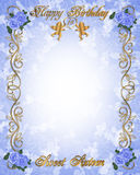 Blau des Geburtstageinladung Bonbon-16 Lizenzfreies Stockbild