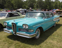 1958 Blau Edsel Citation Stockfotografie
