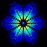Blau-farbige Rosette vektor abbildung
