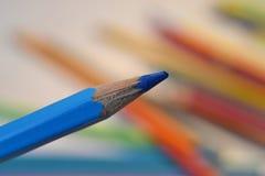Blau farbiger Bleistift Lizenzfreie Stockbilder