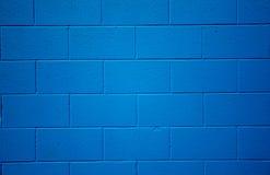 Blau farbiger Ziegelsteinhintergrund Lizenzfreie Stockfotografie