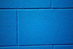 Blau farbiger Ziegelsteinhintergrund Lizenzfreie Stockfotos