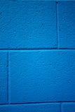 Blau farbiger Ziegelsteinhintergrund Lizenzfreie Stockbilder