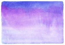 Blau, Flieder und Lavendel füllen rosa Watercoloursteigung Lizenzfreie Stockbilder