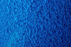Blau gehämmerter Metallhintergrund, abstrakte metallische Beschaffenheit, Blatt der Metalloberfläche gemalt mit Hammerfarbe lizenzfreies stockbild