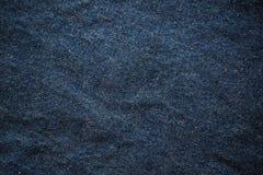Blau geknitterter Baumwollstoffhintergrund Stockfoto