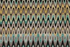 Blau, gelb und Grau bewegt horizontale Linien Mustergewebe wellenartig Lizenzfreies Stockbild
