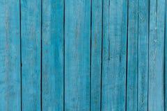 Blau gemalte hölzerne Planken Lizenzfreie Stockbilder
