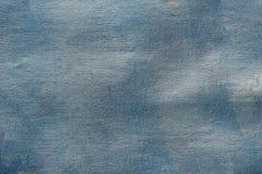 Blau gemalte künstlerische Segeltuchhintergrundbeschaffenheit Stockfotos