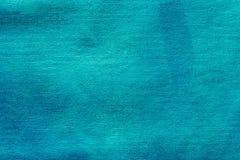 Blau gemalte künstlerische Segeltuchhintergrundbeschaffenheit Stockbild