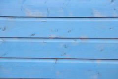 Blau gemalte Planken des Holzes Lizenzfreie Stockbilder