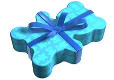 blau geschenk miś pluszowy Fotografia Royalty Free
