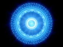 Blau glühendes magisches stargate Lizenzfreies Stockfoto