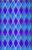 Blau/Grün/purpurrotes harliquin Stockbilder