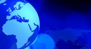 Blau-Hintergrund des globalen Netzwerks lizenzfreie abbildung