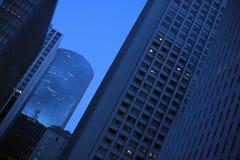 Blau im Stadtzentrum gelegen Lizenzfreie Stockfotos