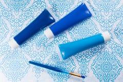 Blau, Indigo, Kobaltfarben - Haupt-interieur Konzept des Entwurfes, an Lizenzfreies Stockfoto