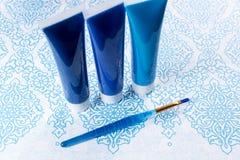 Blau, Indigo, Kobaltfarben - Haupt-interieur Konzept des Entwurfes, an Stockbild